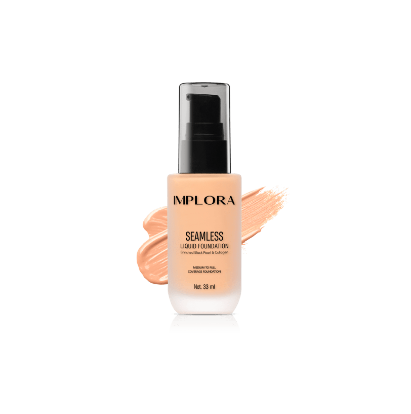 Implora Seamless Liquid Foundation 115 Light Cream